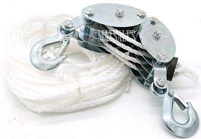 (KaleidoScope)2 Ton Poly Rope Hoist Pulley Wheel Block, used for sale  Delivered anywhere in USA