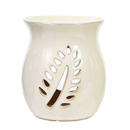 "Hosley White Ceramic Oil Warmer - 4.2"" High for Use with Tea"