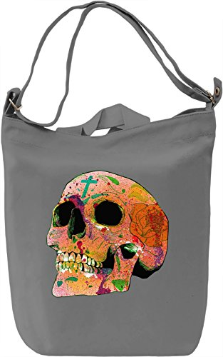 Inked Skull Head Borsa Giornaliera Canvas Canvas Day Bag| 100% Premium Cotton Canvas| DTG Printing|