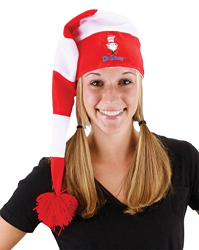 [Dr Seuss Cat in the Hat Stocking Hat by elope] (Dr Seuss Costumes Ideas)