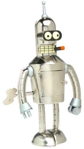 Wind Up Bender - Futurama Bright n' Shiny Bender Wind-Up Tin Robot by Rocket USA