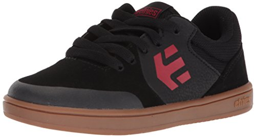Etnies Unisex-Kids Marana Skate Shoe, Black/Black/Gum, 6c Medium US Big Kid