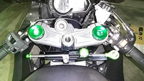 Estabilizador del amortiguador de dirección ajustable de la motocicleta con soporte de montaje para Kawasaki Ninja ZX6R 2009-2017