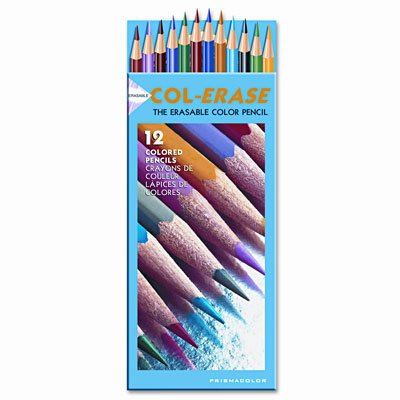 (SAN20516 - Col-Erase Colored Woodcase Pencils w/Eraser)