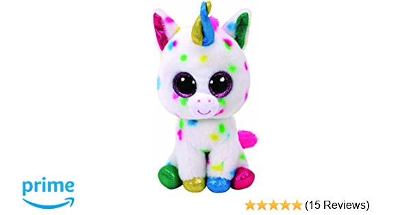 Amazon.com: TY Beanie Boos Plush Harmonie - Speckled Unicorn Med 13