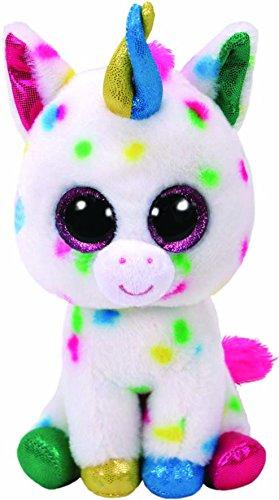 "TY Beanie Boos Plush Harmonie - Speckled Unicorn Med 13"""