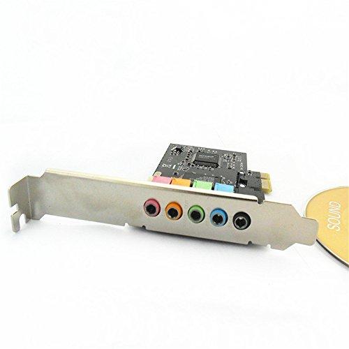 Allytech PCI Express Pci-e 5.1ch 6channels Digital Cmi8738 32-bit 3D Audio Sound Card SFF by Allytech (Image #2)