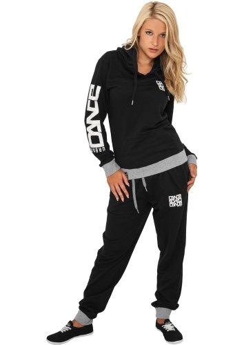 Urban Classics - Pantalón deportivo - Manga Larga - para mujer negro y blanco