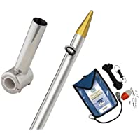 TACO METALS F16-0311VEL8SB / TACO Clamp-On Center Rigger Kit w/8 Silver/Gold Pole & Rigging Kit