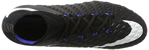 Nike Hypervenom Phantom III DF FG, Scarpe da Calcio Uomo Nero (Black/White/Game Royal)