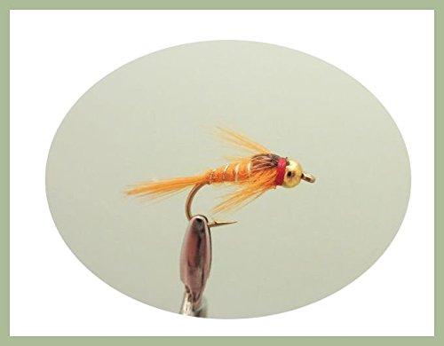 6/unidades de GOLDHEAD Naranja Plata Estriado trucha vuela elecci/ón de tama/ños disponibles