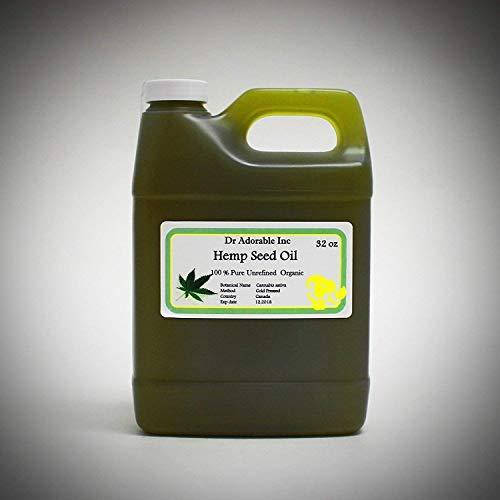 Premium Hemp Seed Oil UNREFINED Cold Pressed Organic 100% Pure 32 Oz/ 1 Quart