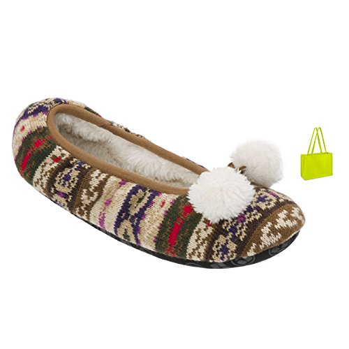 dearfoams Softie Slipper Bag Neutral and Gift Combo OPOxZr