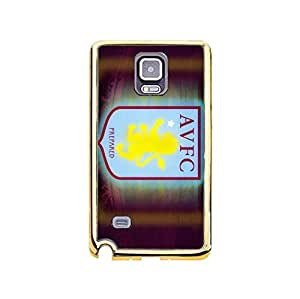 Premier League Series Official Aston Villa FC Phone Case for Samsung Galaxy Note 4 Fancy Fashion AVFC Aston Villa FC Logo TPU/PC Soft Phone Case