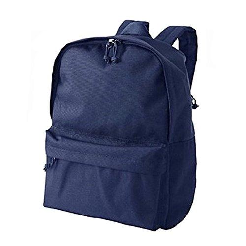 Canvas Rucksack-Schul Bookbags kampierender Beutel-Satz Reisen / Wandern, Blau