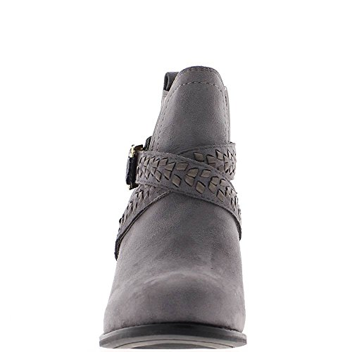 ChaussMoi Bottines Basses Grises Simili Daim Talon 7,5cm et Brides