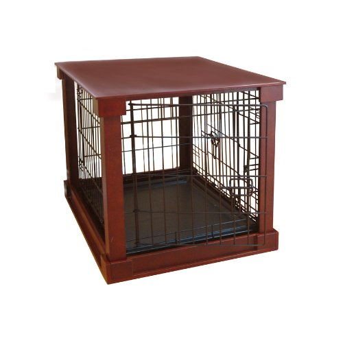Dog Crate with Wooden Cover - Medium (Merry Products Dog Crate With Wooden Cover)