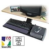 Adjustable Keyboard Platform with SmartFit System, 21-1/4w x 10d, Black, Sold as 1 Each