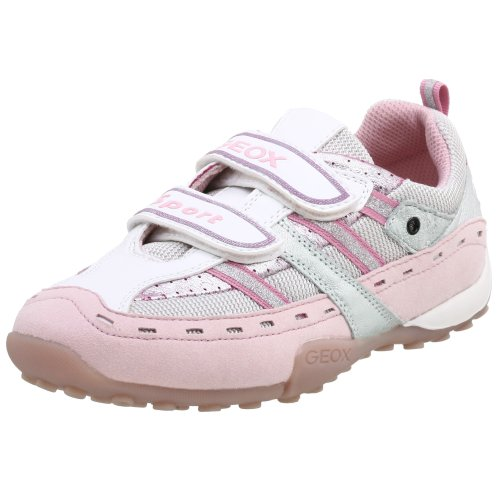 Geox Little Kid/Big Kid Snake Girl Sneaker,Light Pink/Silver,38 EU (5.5 M US Big Kid) - Kid Snake Girl Sneaker