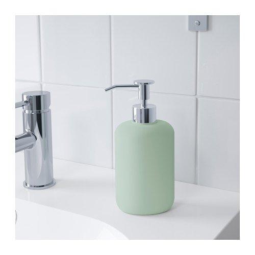Ikea ekoln - Dispensador de jabón, color verde grisáceo. En claro verde grisáceo.; (Gres: Amazon.es: Hogar
