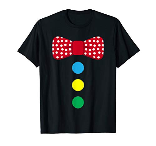 Clown Tie Costume Circus T-Shirt Rainbow Halloween Carnival]()