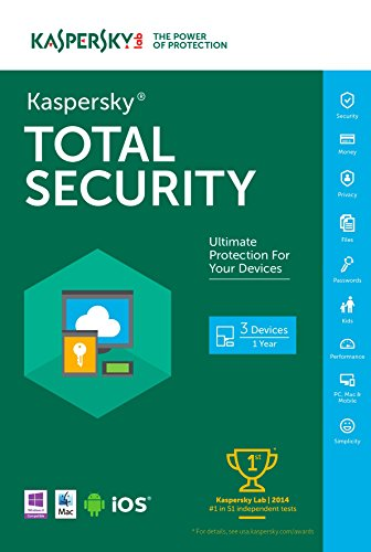 Kaspersky Total Security 2016   3 Devices   1 Year   Download [Online Code]