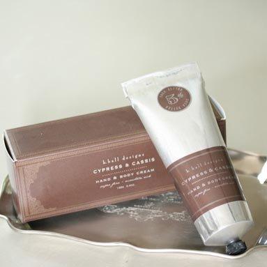 K. Hall Designs Hand & Body Cream 3.4 Oz. - Cypress & Cassis