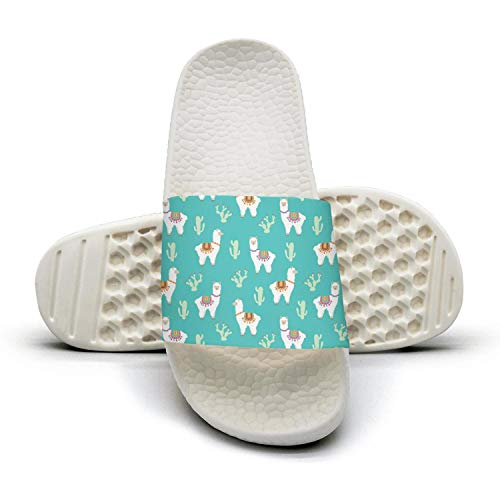 Womens Llama alpaca and cactus Sandals Slippers Summer Slide Water Shoes from DONVE