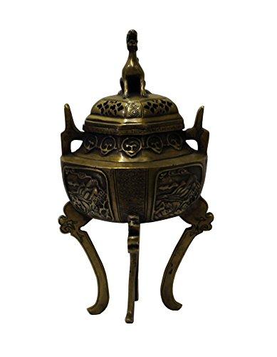 Chinese Oriental Fine Bronze Metal Incense Burner Display Acs3076