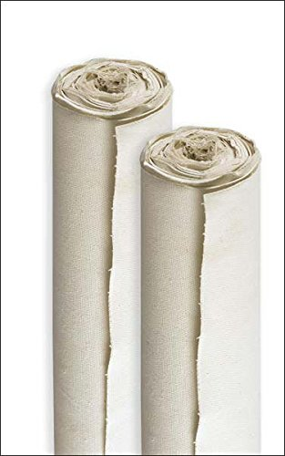 Paramount Artist All-Media 11 oz Double Primed 100% Pure Unbleached Cotton Canvas Roll - 84