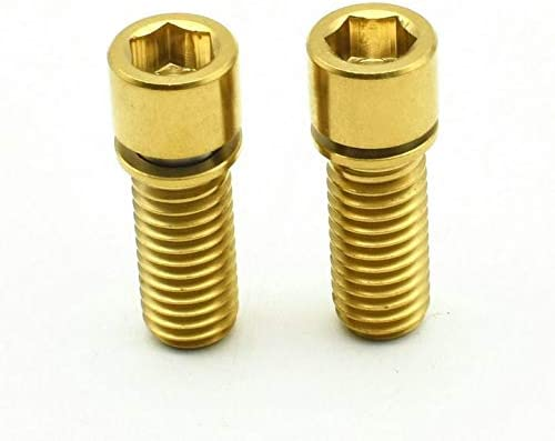 5Pcs Titanium Alloy GR5 TC4 Screws Hexagon Cap Head Allen Bolt Socket Screws M6*25 mm