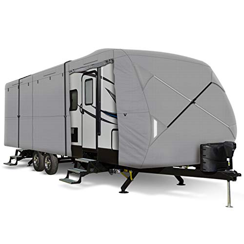 "Leader Accessories Travel Trailer RV Cover Fits 20'-22' Trailer Camper Polypropylene 270""l102""w104""h"