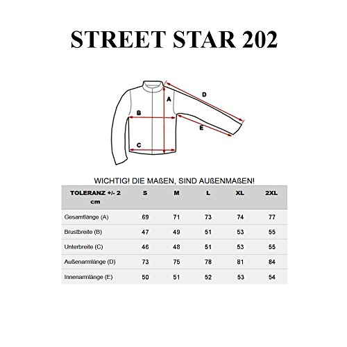 BOLF Hombre Suéter Manga Larga Muy Cómodo Langarm STREET STAR MIX Blanco_202