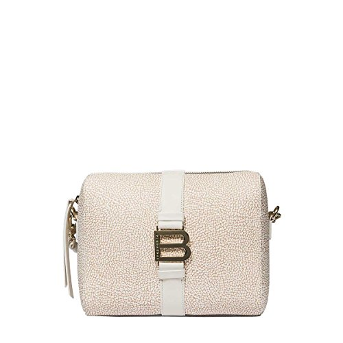 Borbonese Women's 913322320P46 Beige Polyester Shoulder Bag by BORBONESE