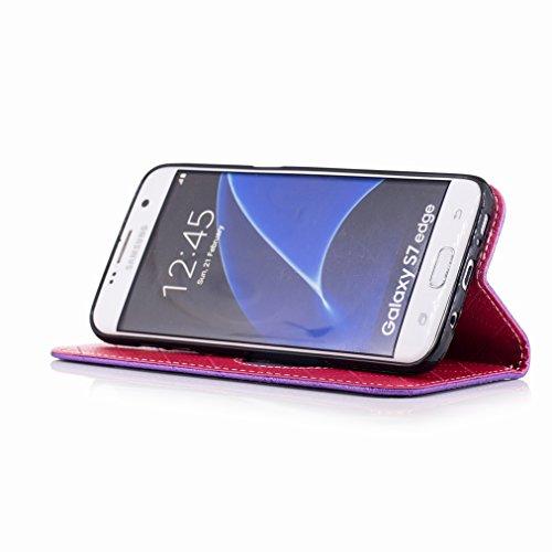 Cáscara Cuero Yiizy Tarjetas Edge S7 Pu Samsung Para Carcasa Galaxy G935f Cover Estuches morado Diseño Protector Amar G935 Ranura G935fd Estilo Billetera Funda Piel a6qarxfw