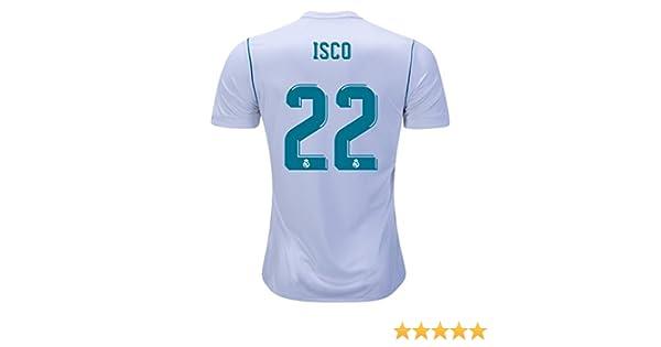 Isco 22 Real Madrid Home 17/18 de fútbol camiseta para hombre de color blanco talla S: Amazon.es: Deportes y aire libre