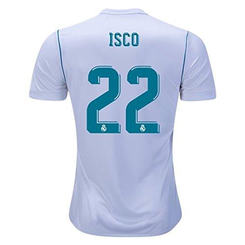 Isco 22 Real Madrid Home 17 / 18サッカージャージーメンズカラーホワイトサイズS B079Y3TSQS