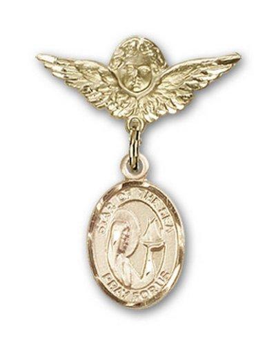Icecarats Créatrice De Bijoux En Or Remplie O / L Étoiles Du Charme De La Mer Ange Broche De Badge 1 X 3/4