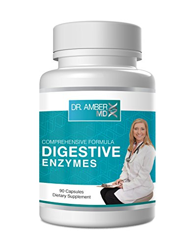 Dr  Amber   Digestive Enzyme Supplement 13 Scientifically Formulated Plant Based Enzymes To Aid Digestion Of Carbs  Fats And Proteins   3 Month Supply