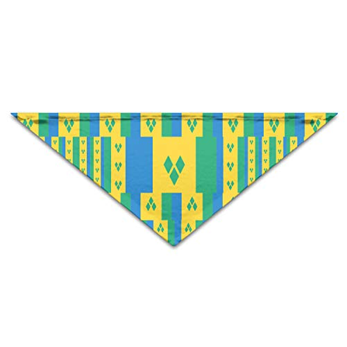 OLOSARO Dog Bandana Saint Vincent and The Grenadines Flag Triangle Bibs Scarf Accessories for Dogs Cats Pets Animals ()