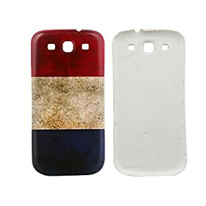 French Flag Embossment Phone Back Cover For Samsung Galaxy S3 i9300