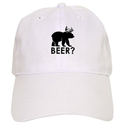 truly-teague-cap-hat-deer-plus-bear-equals-beer-white