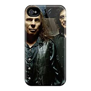 Great Hard Phone Cover For Apple Iphone 4/4s With Unique Design Realistic Black Sabbath Band Pattern AlissaDubois