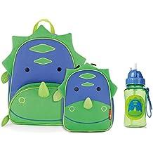 Skip Hop Zoo Backpack, Lunchie, and Bottle Set, Dinosaur