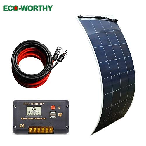 ECO-WORTHY 150w Flexible Solar Panel 12 Volt Lightweight Kit for RV, Boats, Roofs, Uneven Surfaces