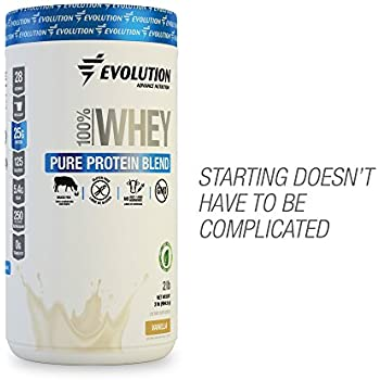 EVOLUTION Pure Whey Protein Isolate Blend - For Men and Women, Beginners or Active Lifestyle - 100% Grass Fed - GMO, Hormones and Gluten Free.