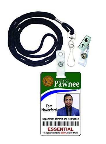 Costume Ansari Aziz (Tom Haverford Novelty ID Badge Film Prop for Costume and Cosplay • Halloween and Party)