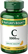 Nature's Bounty Vitamin C Pills and Supplement, Supports Immune Health, 1000mg, 100 Caplets