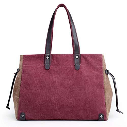 En Business color Femme Loisir Blue Main Sac Coffee Casual Capacité Toile Bag Pour Voyage De Grande À Purple Magai Fitness qB4twSA