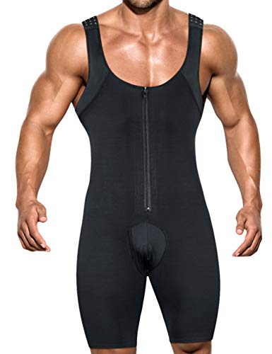 NonEcho Men Shapewear Tummy Control Full Body Shaper Slimming Bodysuit Plus Size]()
